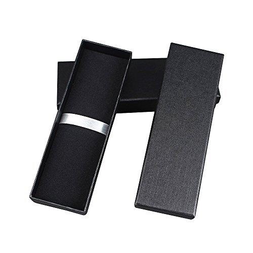 Lvcky 5 Stück Elegante Schmuck-Kugelschreiber, Geschenk-Box mit Kissen Bleistift-Boxen Leere Bulty Case Collection Set für Business Geburtstag schwarz