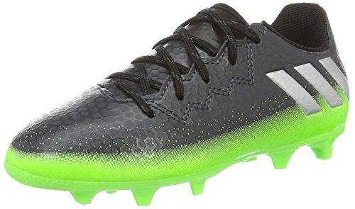 adidas Unisex-Kinder Messi 16.3 FG Fußballschuhe Grau (Dark Grey/Silver Met./Solar Green), 36 2/3 EU