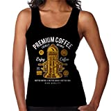 Premium Coffee Vintage Machine Women's Vest