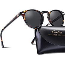 Carfia Mens Sunglasses Polarised Vintage Eyewear UV400 Protection for Driving Travel