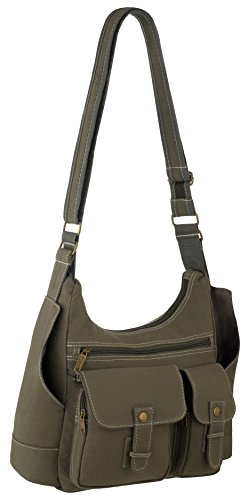 EyeCatchBags - Sac a main besace canvas épaule urban Kaki