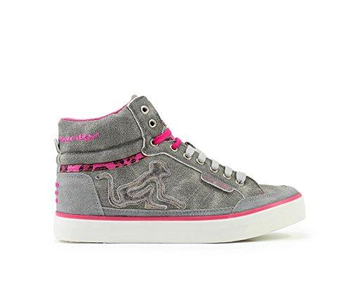 Drunknmunky Boston Milkyway 242, Sneaker Donna in Ecopelle Grigio (Grey)