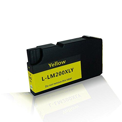 kompatible Tintenpatrone für Lexmark OfficeEdge Office Edge Pro 4000 Pro 4000c Pro 4000 c Series Pro 5500 200/210 200XL 210XL 14L0200 14L0177E Yellow Gelb - 14 Farb-tintenstrahl