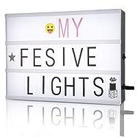 A4 cinematic light box,caja de luz cinematográfica / personalizar a4 caja de luz de película / caja de cine con 350 letras y símbolos por FSC,
