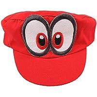 tengeer Súper Mario Beanie Odyssey Rojo con Ojos para para Adultos y niñoss  y niños Disfraz 1722bc3e4d6