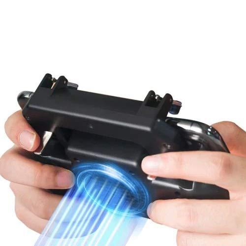 Yangyme Spielzubehör Multifunktions-Smartphones, die Gamepad Gaming Controller, Mobile Game Controller Ladegerät Lüfter for PUBG L1R1 Trigger Lever