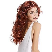 WIG ME UP ® - 91240-ZA340A/ZA24A Peluca Mujer Halloween Carnaval Mezcla Rojo
