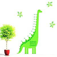 Children Dinosaur Animal Growth Chart Height Measure Wall Sticker Decal Kids PP