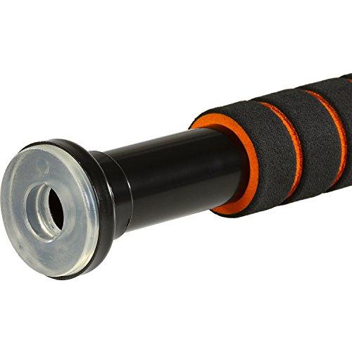 MOVIT Teleskop Klimmzugstange MV-40-399 mit Softgrip und transparenten Seitengummis, bis 350 kg belastbar -