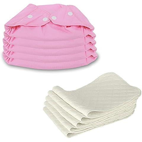 5 pcs riutilizzabili regolabile lavabile Baby pannolini pannolino pantaloni Baby-Panno-pannolino stoffa morbida, grandezza regolabile