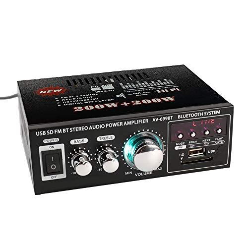 Docooler 12V/220V Mini Pantalla LCD de 2CH HiFi Audio Estéreo Amplificador de...