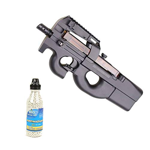 Well Airsoft Pack Sturmgewehr D90F Electric, Flasche mit 2000 Bällen (0,4 Joule)