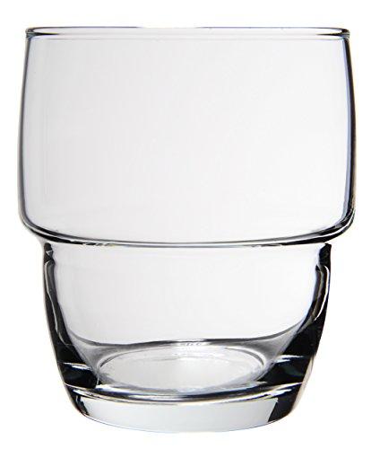 Novastyl 8013548.0Orleans vaso apilable forma baja cristal transpare
