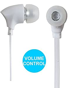 Jkobi Joy Sound Volume Control Earphones Handsfree Compatible For Micromax Canvas Amaze Q395 -White