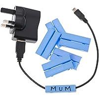 (Un grande) pacchetto Cablebug5 di 40 contrassegni a clip del cavo, misure cabla il blu di 7mm - di 5mm