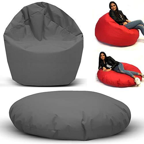 Sitzbag Sitzsack 2 in 1 Funktionen Styropor Füllung - In & Outdoor - Bean Bag Sitzkissen Bodenkissen Hocker Kinder Sitzsäcke Möbel Kissen Sessel Sofa -