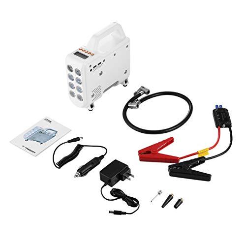 Preisvergleich Produktbild LoveOlvidoD 12V multifunktionale Luftpumpe 5 in 1 Wiederaufladbare LCS Display Blast Pumpe Outdoor Emergency Auto Kit mit 4 Modi LED Beleuchtung