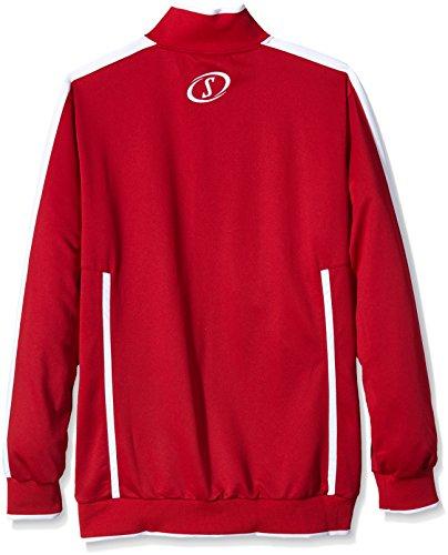 Spalding - Maglia Quarterzip Evolution Rosso - rosso/bianco