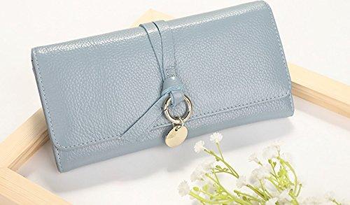 CLOTHES- Portafoglio lungo della borsa della signora Semplicità di svago Borsa multifunzionale femminile della borsa multifunzionale ad alta capacità di trasporto ( Colore : Rosso ) Blu