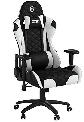 Empire Gaming - Sillón Racing 700 serie Negra/Blanca - Asiento deportivo acolchado...