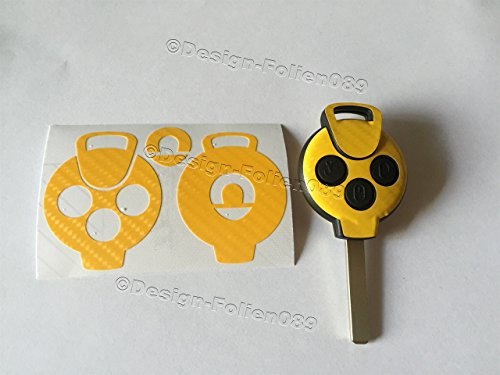 design-folien089-lamina-decorativa-para-llave-de-coche-carbono-compatible-con-smart-cabrio-amg-fortw