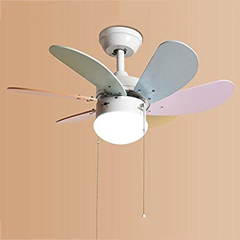 TOYM UK 30 inch dining room living room bedroom with fan lights American simple led children fan