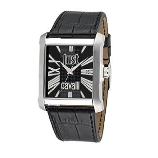 Just Cavalli R7251119002 – Reloj analógico de Cuarzo para Hombre con Correa de Piel, Color Negro
