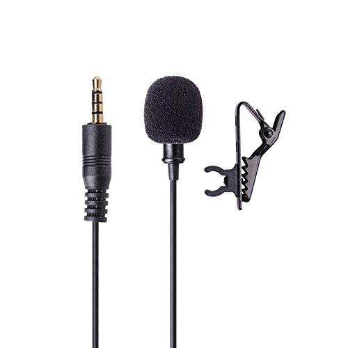 lzndeal Micrófono de solapa con micrófono Lavalier Mic omnidireccional con micrófono para iPhone 8 Plus iPad iPod