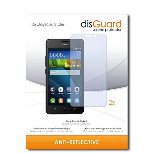 disGuard® Displayschutzfolie [Anti-Reflex] kompatibel mit Huawei Y635 [2 Stück] Entspiegelnd, Matt, Antireflektierend, Extrem Kratzfest, Anti-Fingerabdruck - Panzerglas Folie, Schutzfolie
