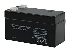 HQ 12V 1.3Ah Universal Sealed Rechargeable Lead Acid Battery