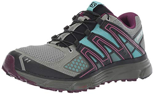 SALOMON X-Mission 3 W, Scarpe da Trail Running Donna, Verde/Viola (Shadow/Dark Purple/Nile Blue), 38 2/3 EU
