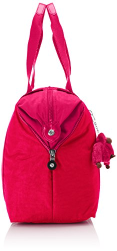 Kipling - ART M - Reisetasche - Warm Grey - (Grey) Vibrant Red Blk