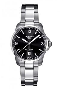 Certina C001.410.11.057.00 - Reloj para hombres, correa de acero inoxidable color gris de Certina