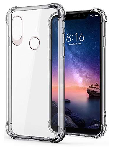 Jkobi Silicon Flexible Protective Shockproof Corner Back Case Cover For Xiaomi Redmi Note 6 Pro -Transparent