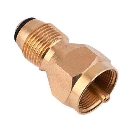 ARDUTE Propan-Nachfülladapter Lp-Gas 1 lb-Flaschentank-Koppler-Heizflaschen Coleman Safe Legal Alternative zum Nachfüllen von Propanflaschen.- Gelb