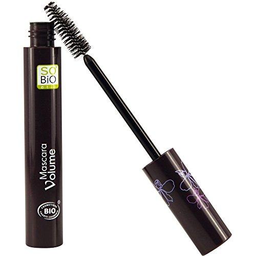 SO ' BIO ETIC - Mascara EcoBio Volume 01 Noir Chic - Avec Huile de Ricin Renforçant - Cils volumineux et attrayants - Applicateur spécial - Certifié biologique et Ecocert - 10 ml