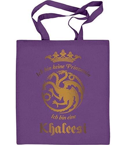 Ich Bin Keine Prinzessin, Ich Bin Eine Khaleesi Jutebeutel Baumwolltasche Violett