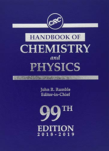 CRC Handbook of Chemistry and Physics, 99th Edition