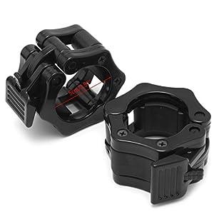 LDA ERHALTEN Sie frische 2pieces Dumbbell Barbell Collar Clips Clamp Gym Gewichtheben Fitnesstraining Neue Schwarze Rod Glocke Kunststoffschnalle
