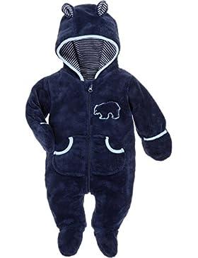 Schnizler Unisex Baby Kuschel-Fleece-Overall mit Kapuze
