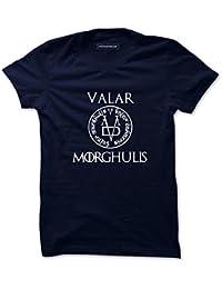 Atrangi Store Cotton Valar Printed Half Sleeve Round Neck T-Shirt For Men's