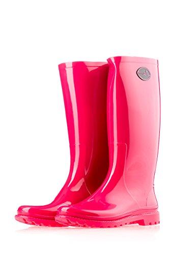 MEI Damen Gummistiefel Pink Rosa 37