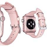 MroTech Compatible avec Apple Watch Bracelet 38mm 40mm Femme en Cuir Véritable,...
