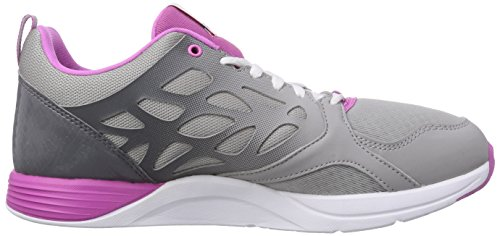 Reebok Cardio Inspire Low, Chaussures de Fitness Femme Gris - Grau (Medium Grey Heather/Solid Grey/Shark/Ultraberry/White)