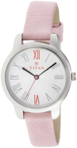 Titan Youth Analog White Dial Women's Watch - NE2481SL01
