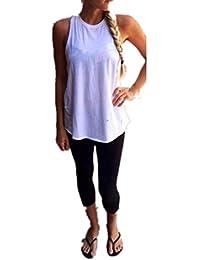 Sport tank tops HARRYSTORE Mujer camisetas deportivas sueltos y elásticos dvidir de nuevo Mujer camisetas sin mangas deportivos mujer chaleco Fitness para correr