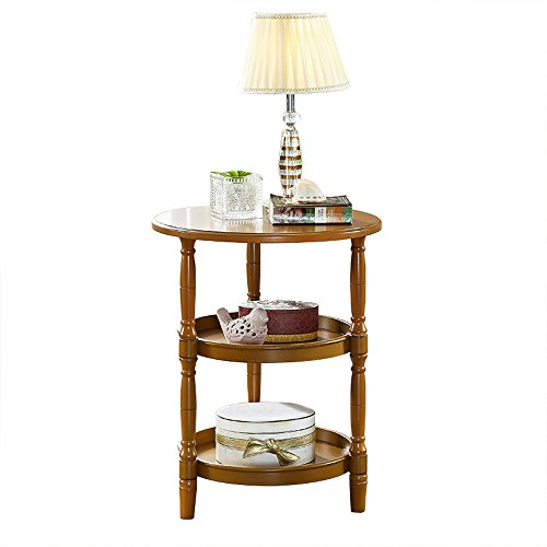 Table de chevet Table De Chevet Tables Rondes En Bois Massif Table Basse Tables D'appoint De Canapé Tables Basses Rondes Table Ronde Table Latérale Table D'appoint Mobilier De Table Moderne (taille: 51 * 62.5cm) ( Couleur : C )