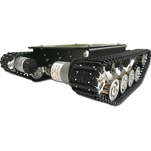Baugger Roboter Smart Car Plattform - Tank Chassis - Ts100 Tank Chassis Ts100 Stoßdämpfer Metall Roboter Tank Car Kit Chassis für Arduino Uno R3 Intelligente Track Car/Tank Chassis Tank Crawler Cha
