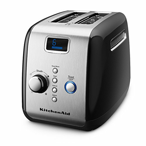 Kitchenaid 5kmt223gob 2 Slot Automatic/pop Up Toaster  (onyx Black)