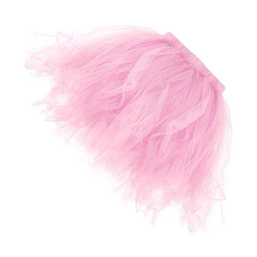 MagiDeal Tutu Frauen und Mädchen Ballettröckchen Röcke Prinzessin Ballett Performing Dress Dancewear Unterröcke - Rosa, (Erwachsene Tutu Rosa Für)